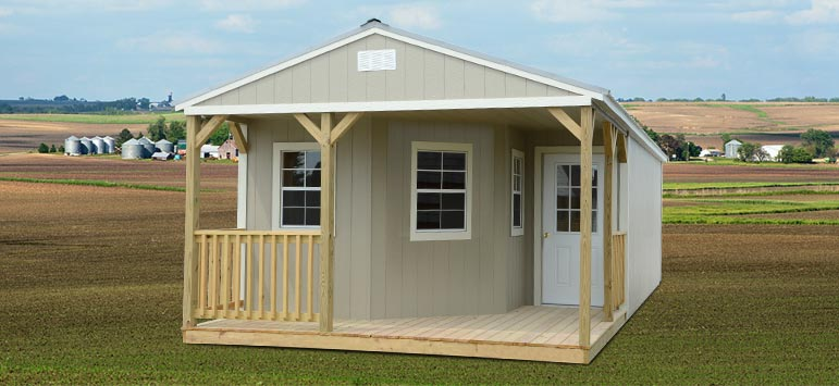 Premade Cabins Deluxe Cabin Backyard Outfitters