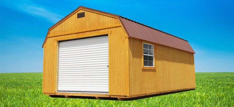 Pre Built Garage Lofted Garages Backyard Outfitters