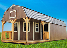 lofted cabin shed