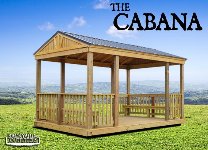 Outdoor Cabanas Of All Sizes At Backyard Outfitters