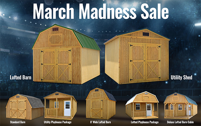 march madness barn sale